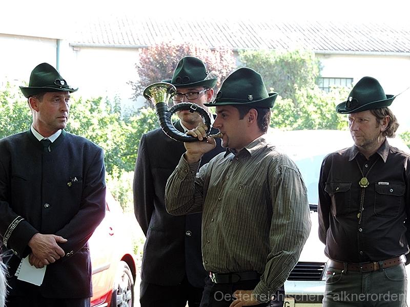 Vorstellung des Jagdhornes im Zuge der Feldmesse