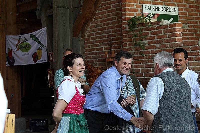 Falkner aus ganz Österreich treffen sich bei der Jubiläumsfeier des ÖFO