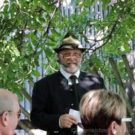 Vizepräsident Heinz Oberhauser eröffnet die Jubiläumsfeier