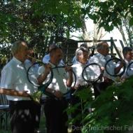 Die Jagdhornbläsergruppe Carnuntum begleitet die Feldmesse