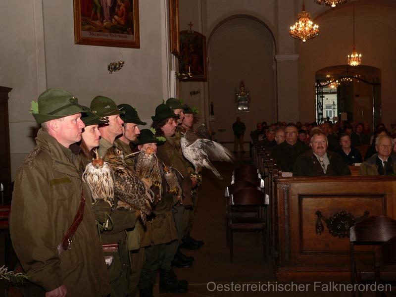 Die Falkner während der Messe