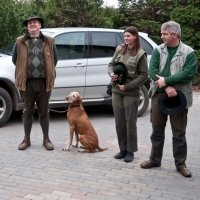 Begrüßung im Jagdrevier