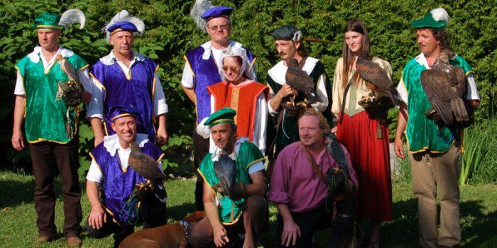 Der Österreichischen Falknerorden beim Mittelalterfest